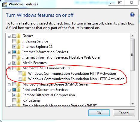 disable 3.5 .NET framework photo