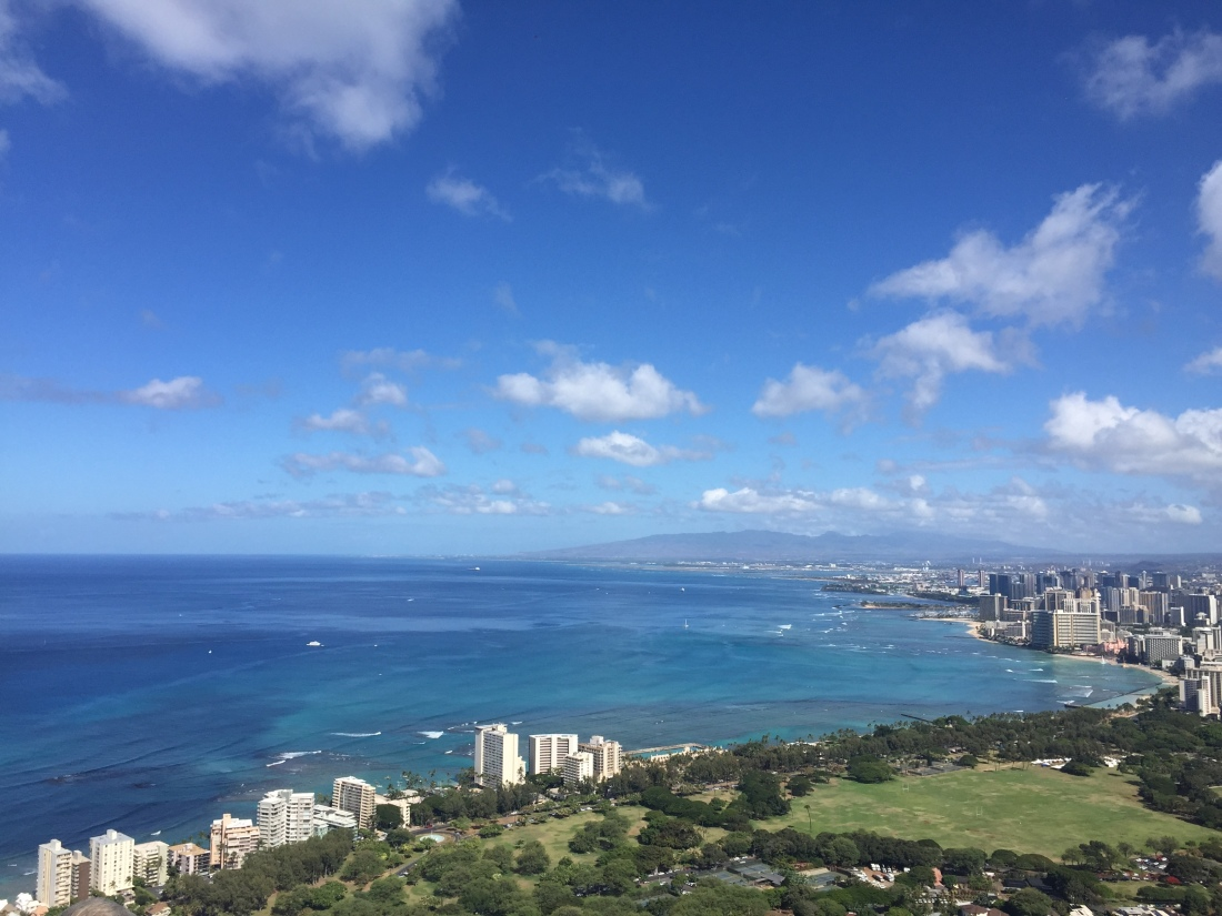 View from top of Diamond Head