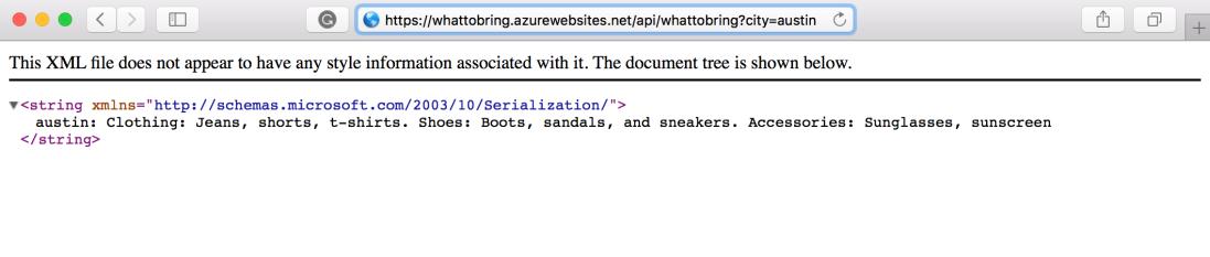 testing Azure function