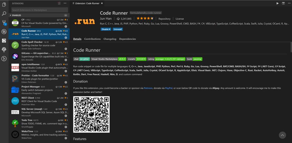 Favorite Visual Studio Code Extensions of 2018 – Ricardo D